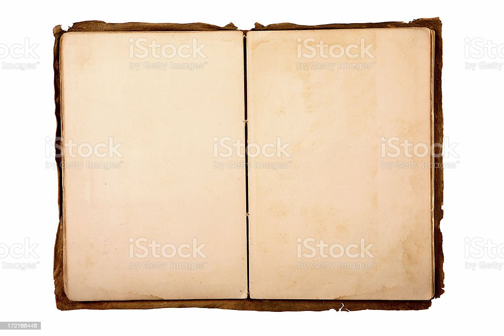 1900's Handmade Scrapbook (100% View) royalty-free stock photo
