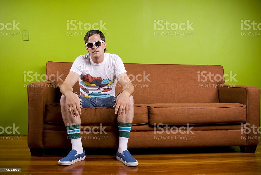 1980's Hipster Guy royalty-free stock photo