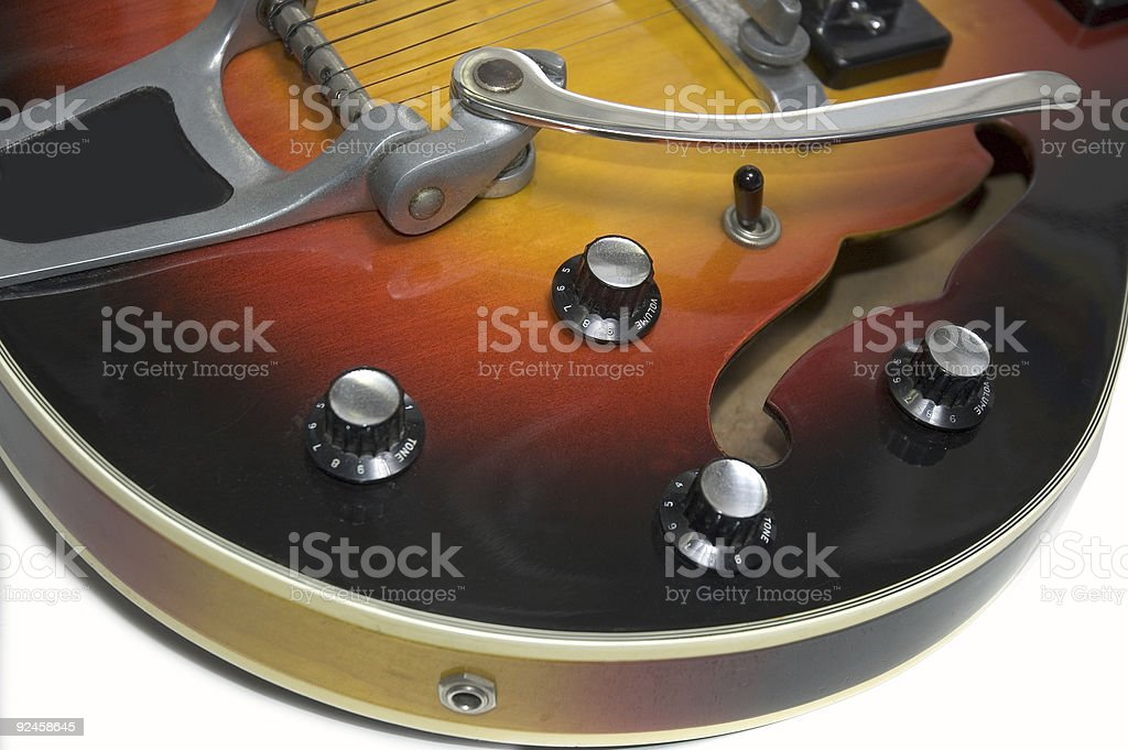 50's Hollow body Electric Guitar royalty-free stock photo