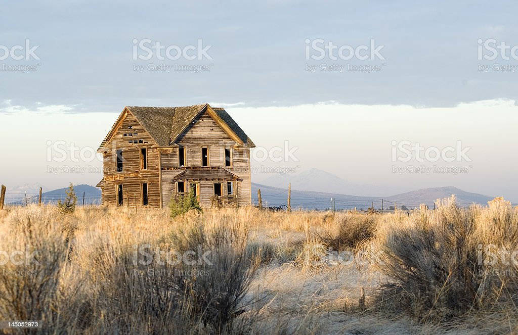 1800's Homestead Remains royalty-free stock photo
