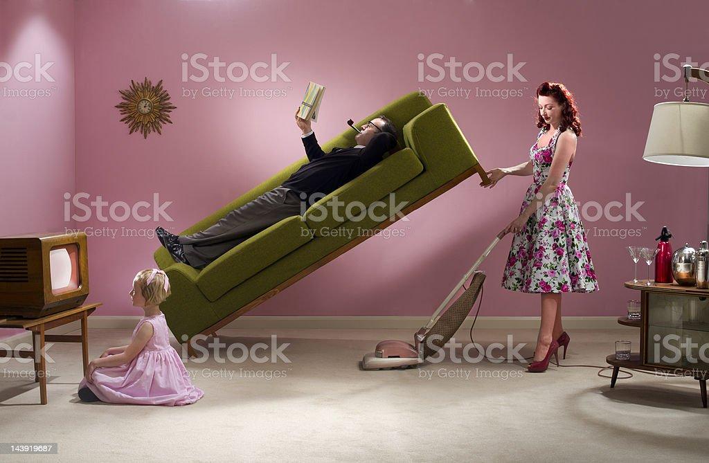 1950's housework stock photo
