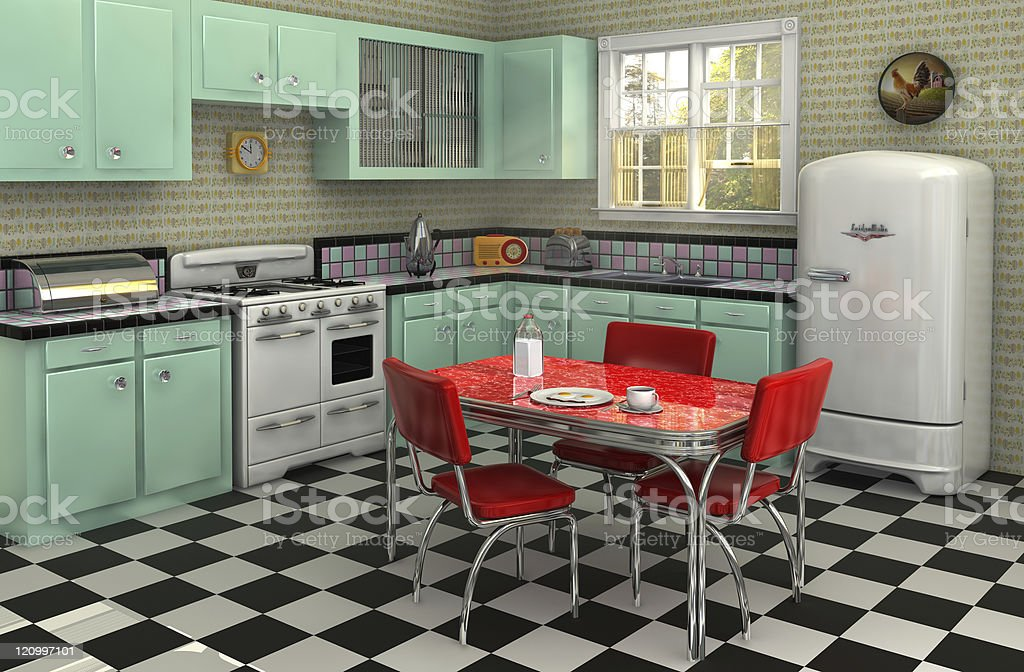 1950's Kitchen stock photo