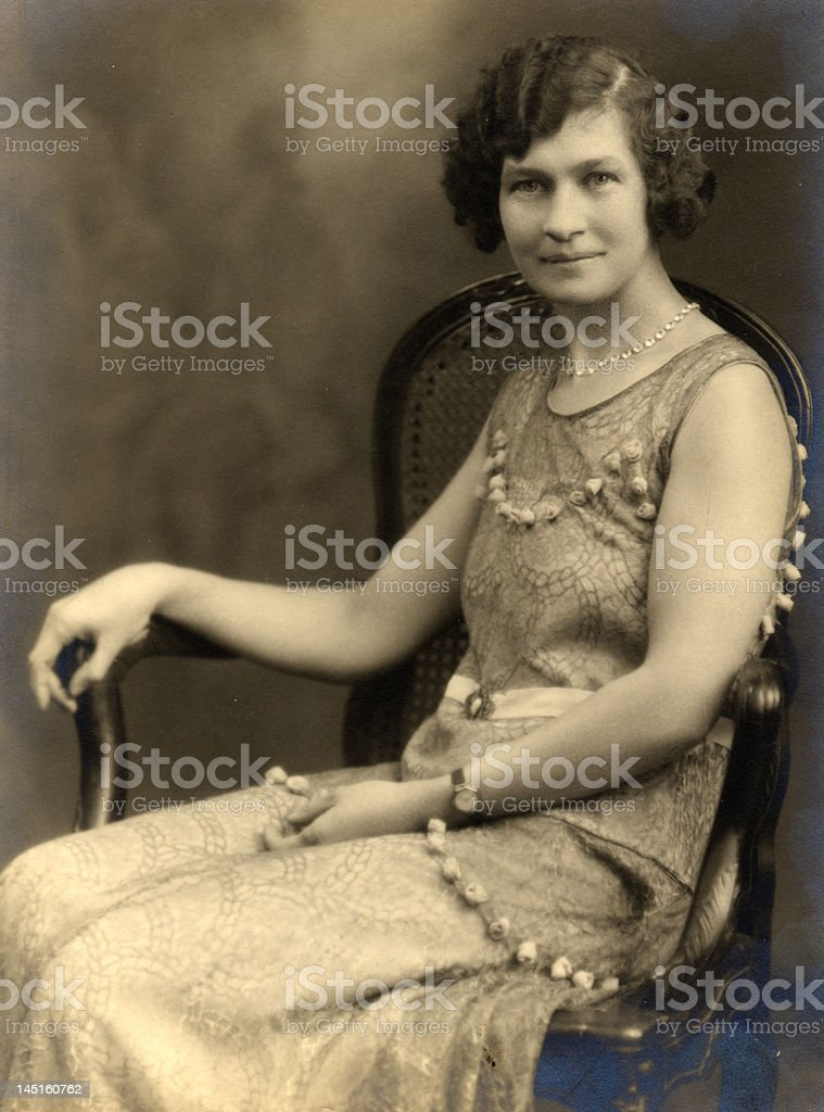 1930's Lady's portrait royalty-free stock photo