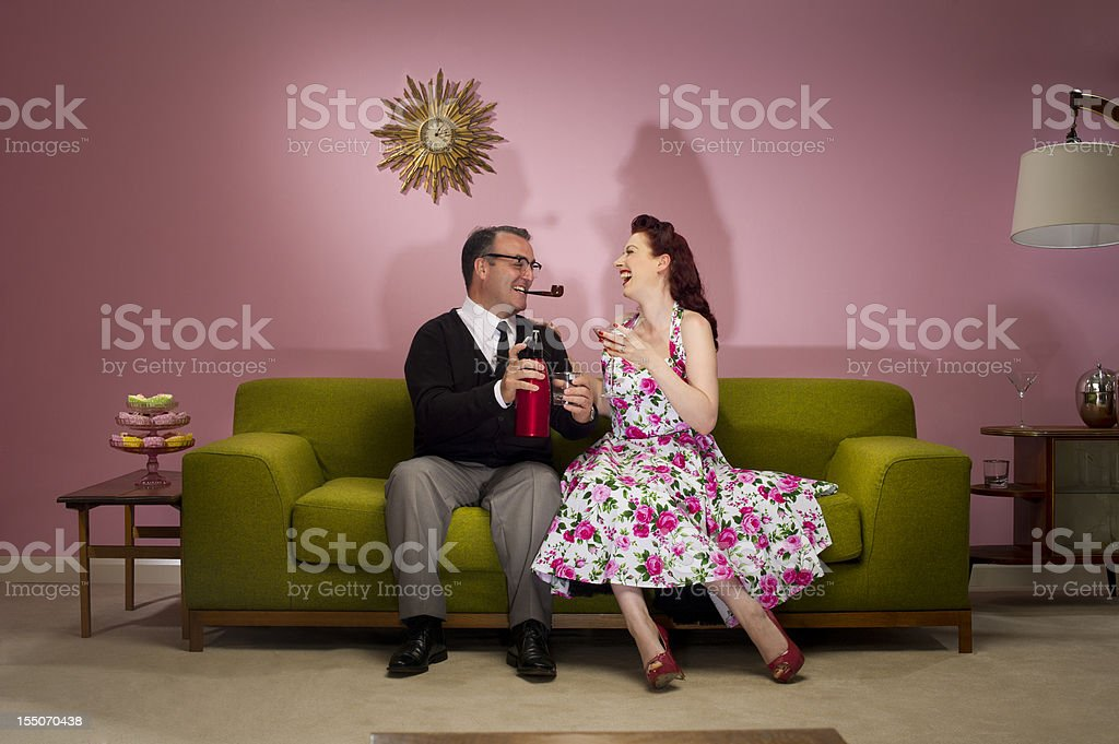 1950's lovers stock photo