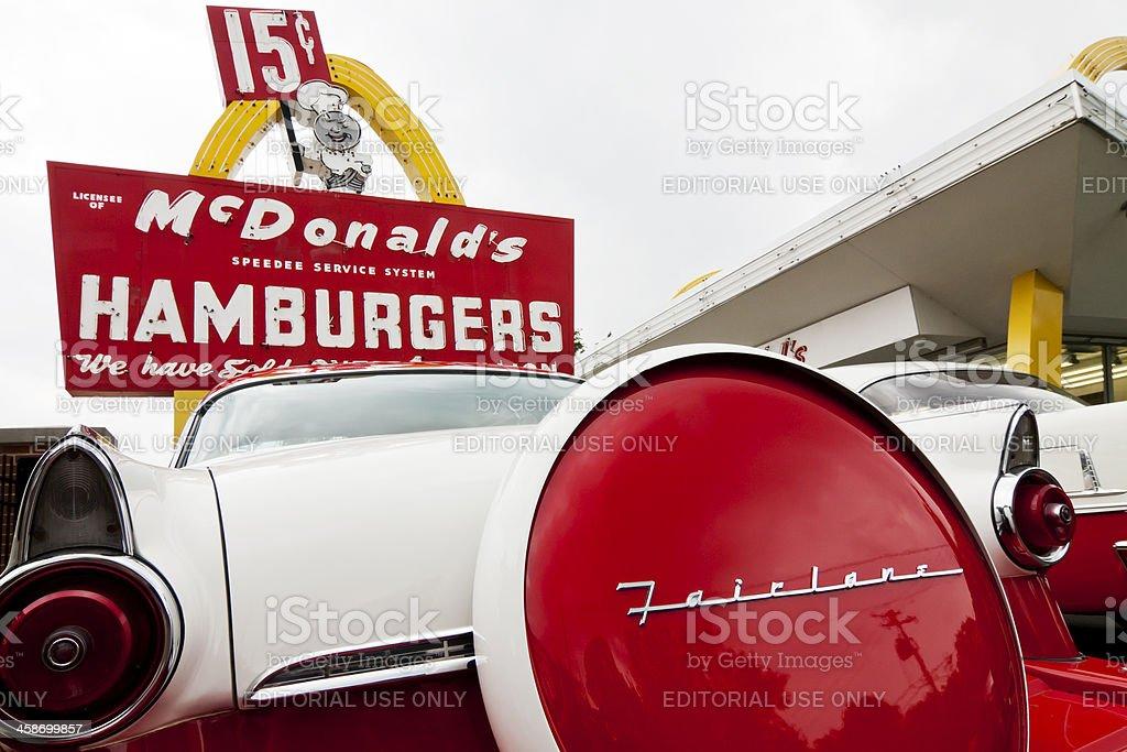 1950's McDonald's royalty-free stock photo