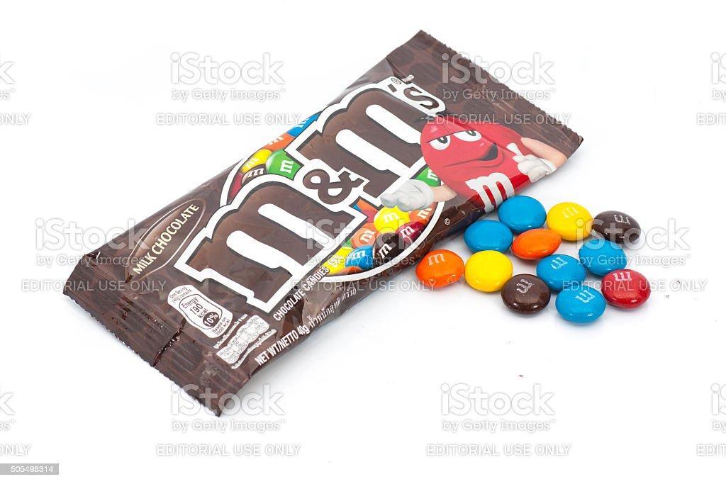 M&M's milk chocolate candies stock photo