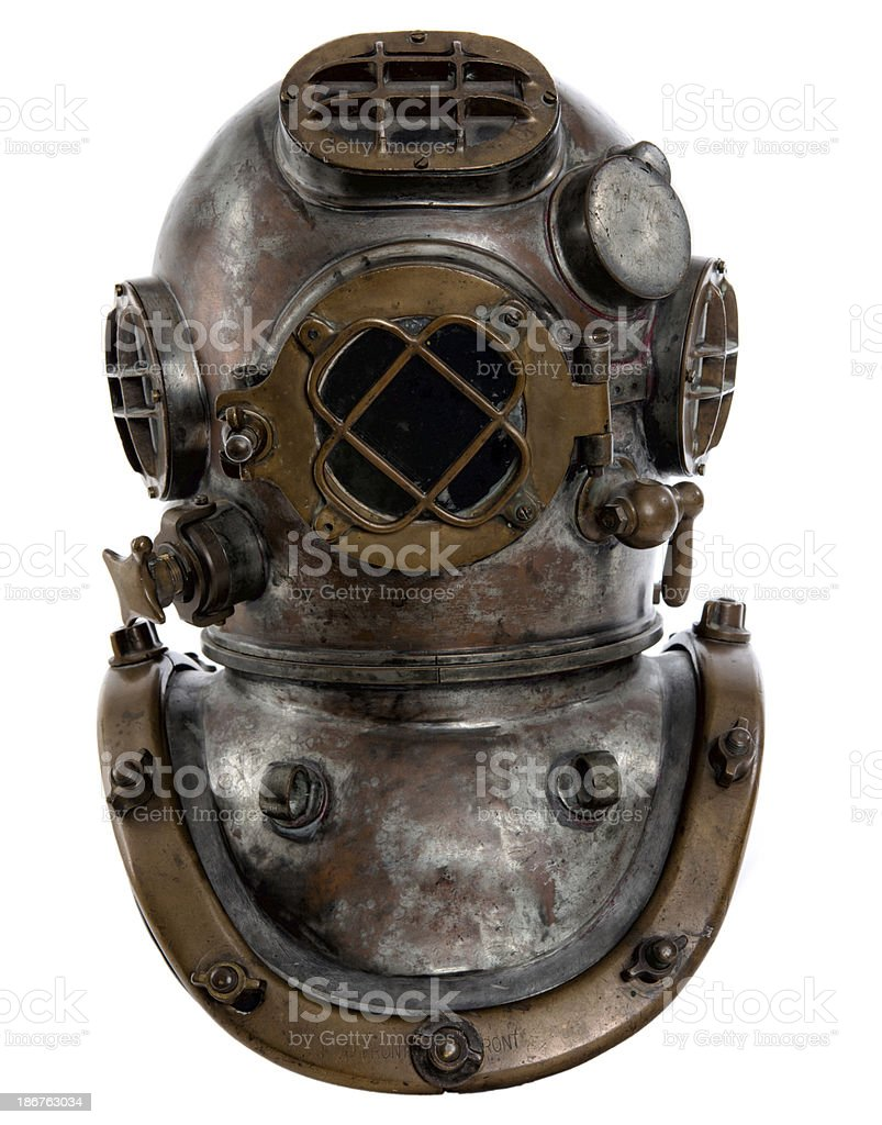 1920's Navy Diving Helmet Mark Five stock photo