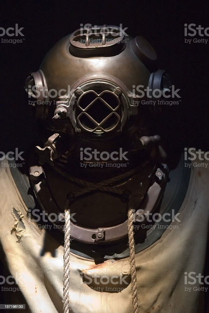 1920's Navy Diving Suit stock photo