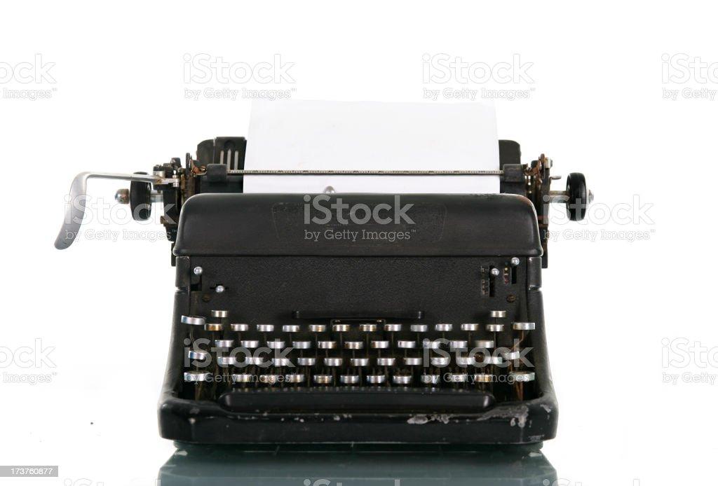 40's Old typewriter royalty-free stock photo
