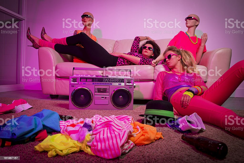 1980's Party royalty-free stock photo