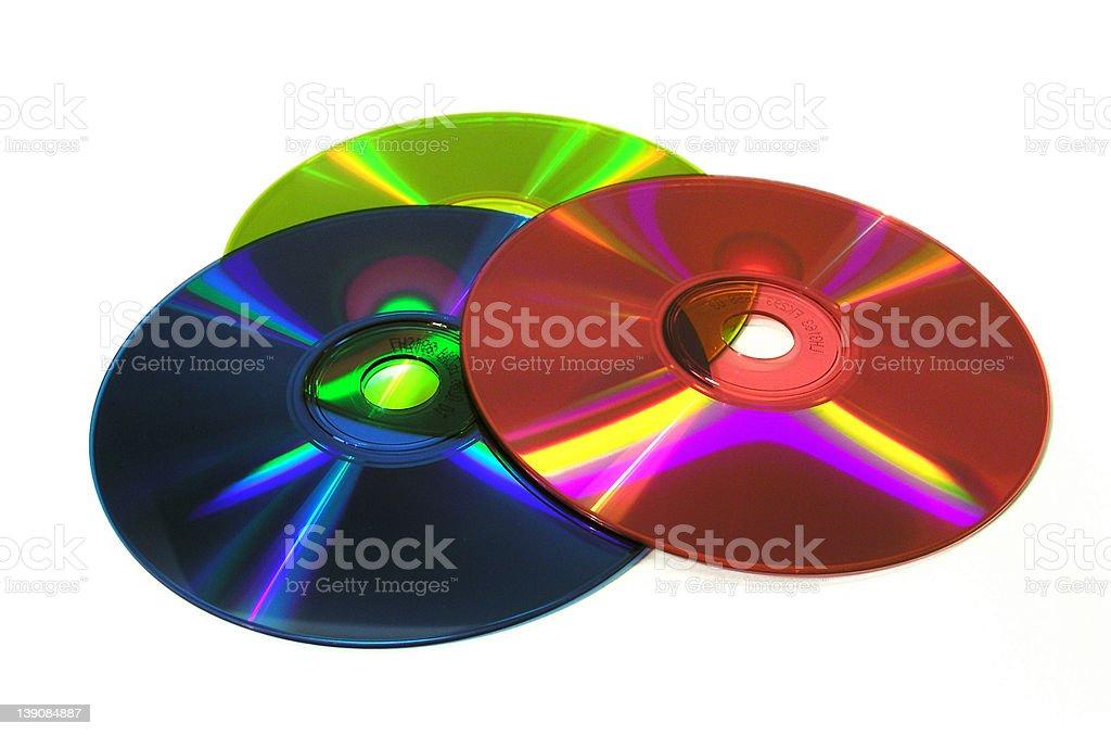 3CD's royalty-free stock photo