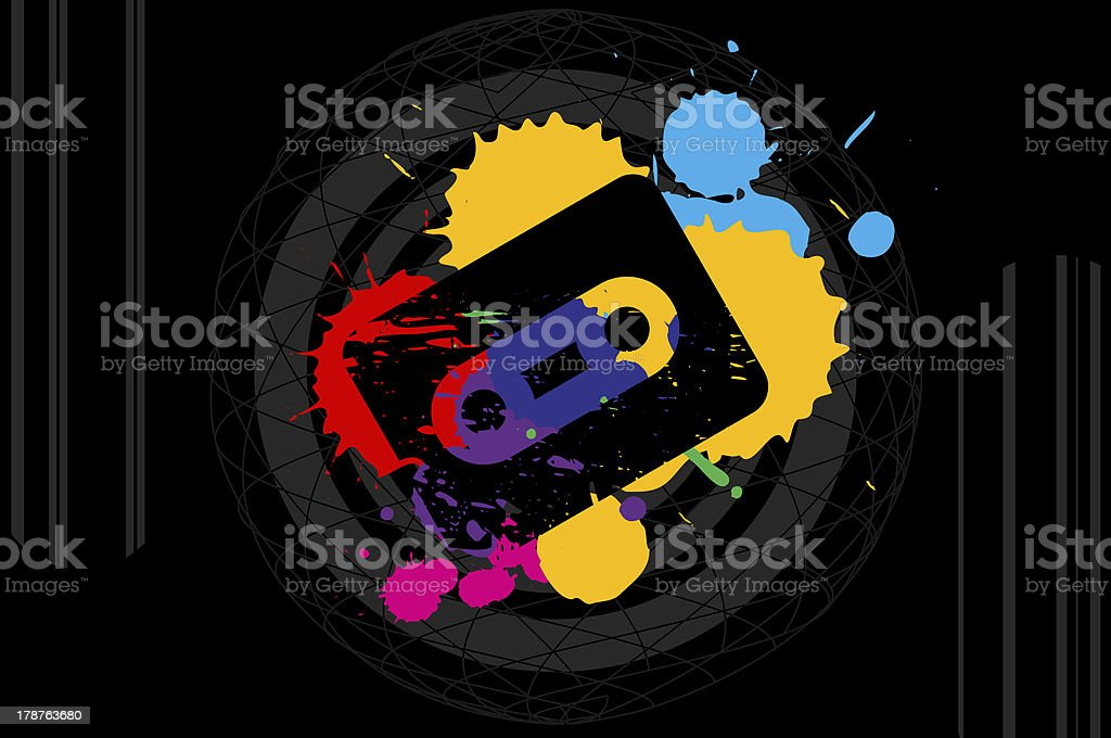 80's pop music background royalty-free stock photo