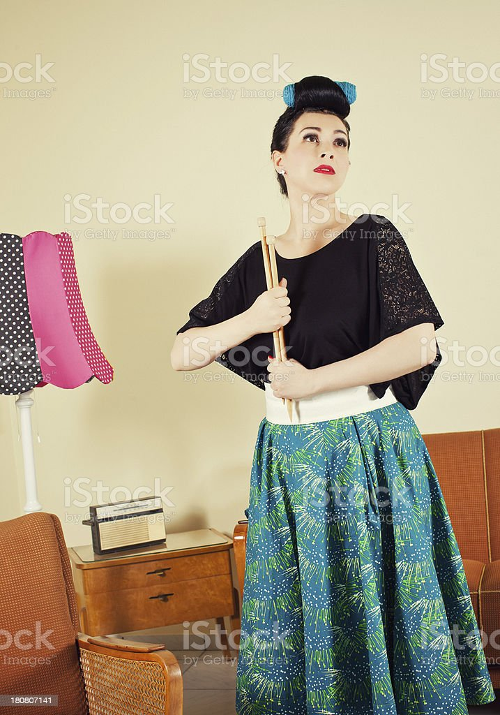 50's - portrait of a young women royalty-free stock photo