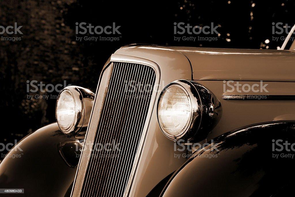 1930's retro car royalty-free stock photo