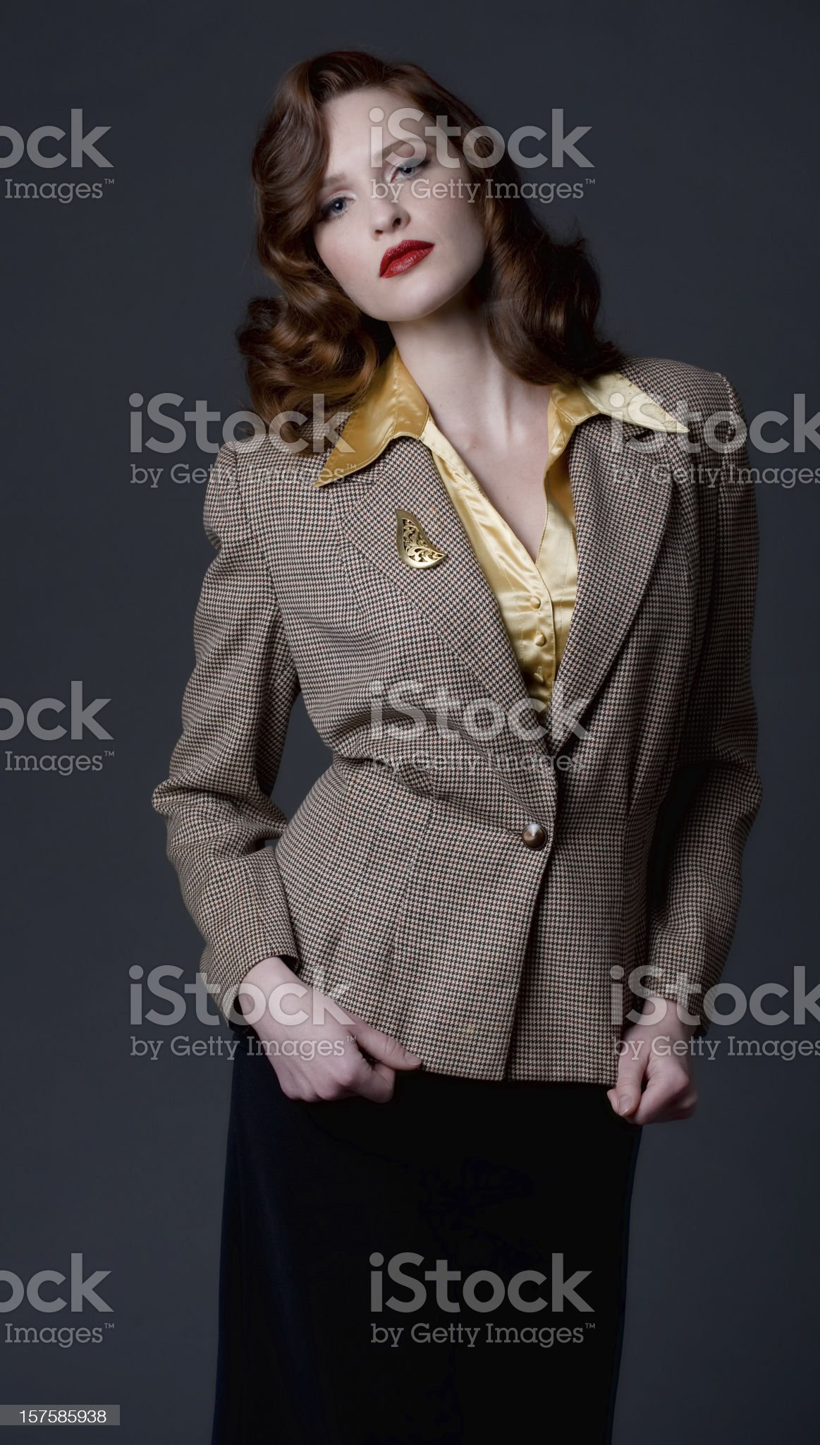 1940's retro fashion royalty-free stock photo