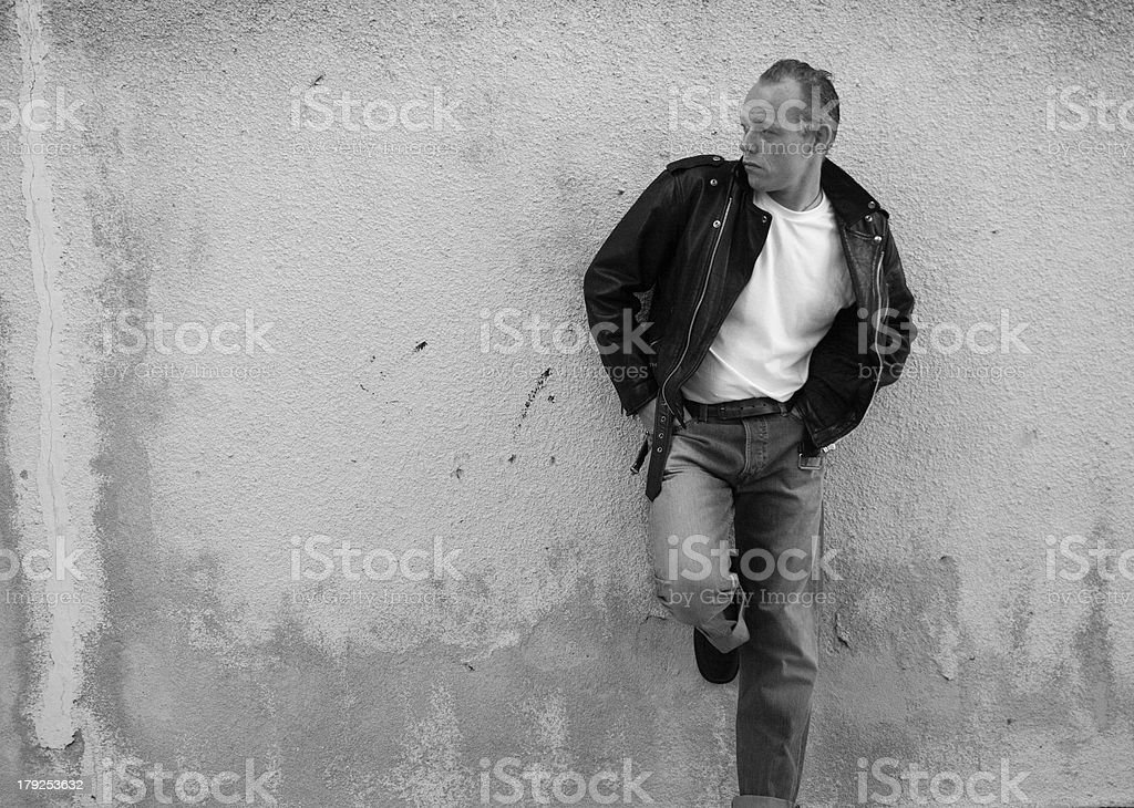 50's Rockabilly Pose stock photo