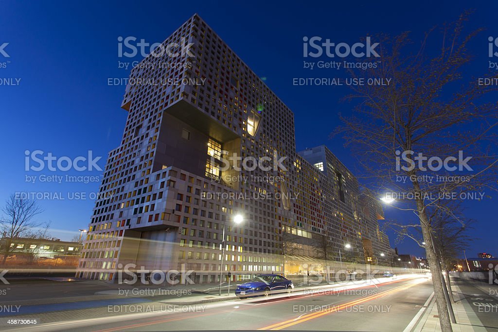 MIT's Simmons Hall royalty-free stock photo