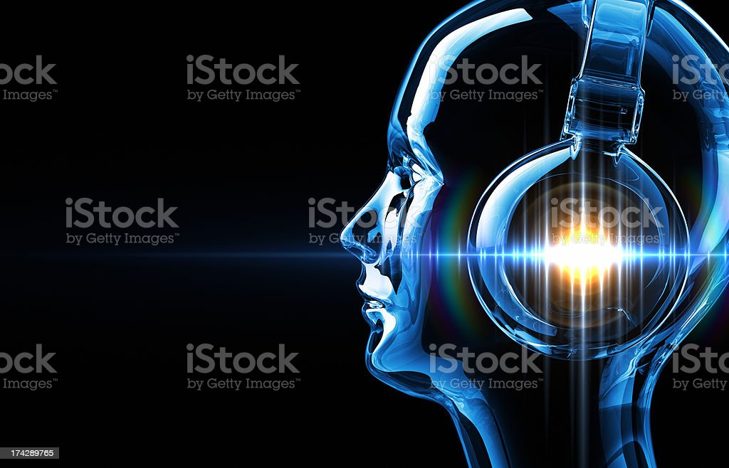 DJ's Sound Wave stock photo