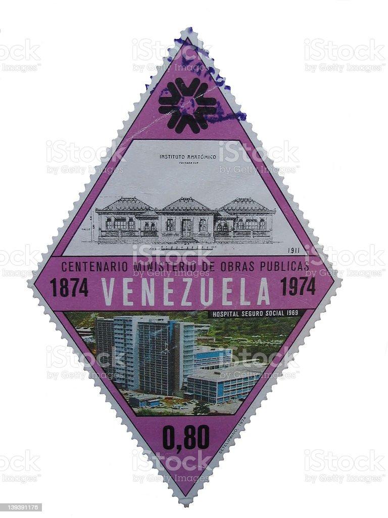 1974's stamp - venezuela royalty-free stock photo