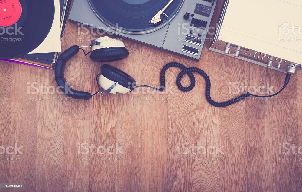 1980's stereo set stock photo