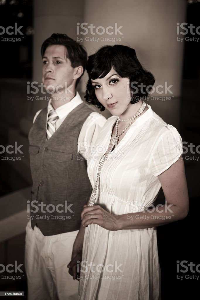 20's style couple royalty-free stock photo