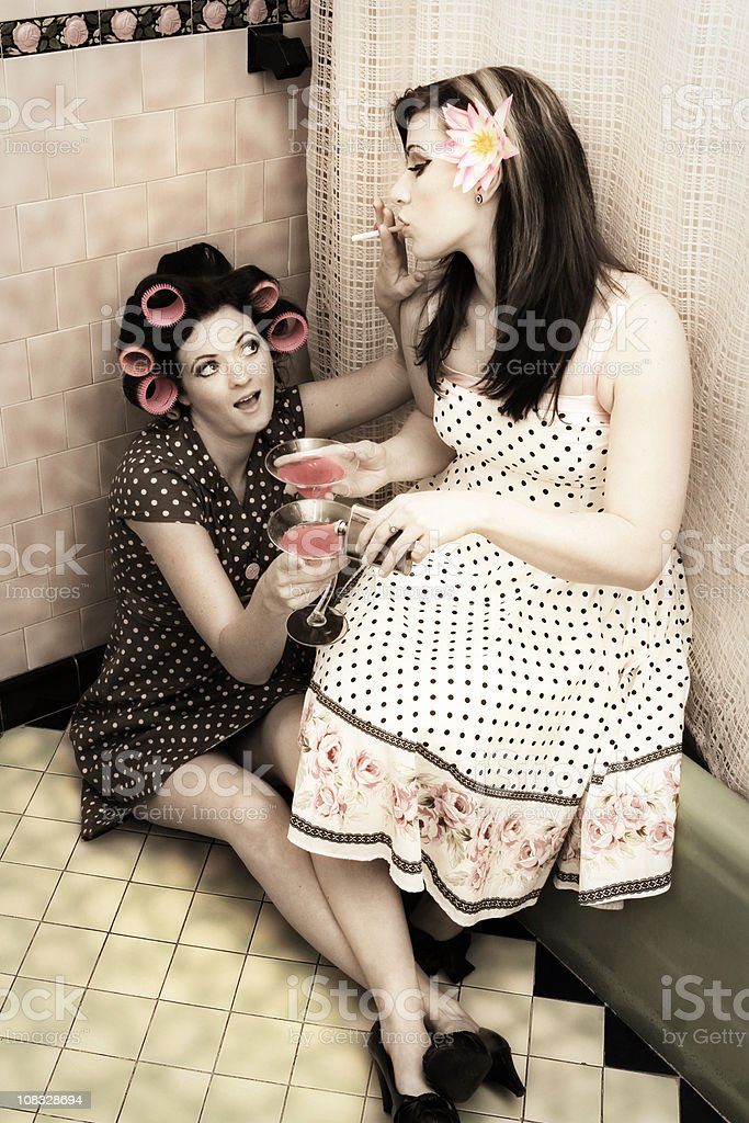 1950's Style Party Girls royalty-free stock photo