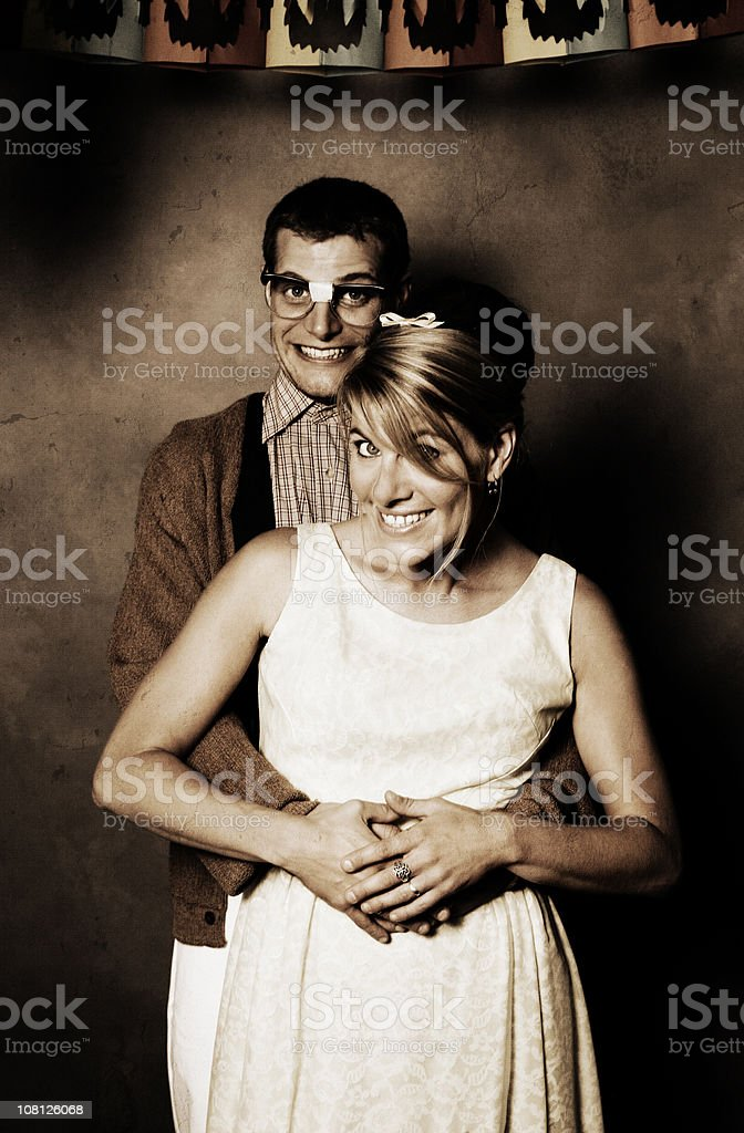 1960's Styled Couple Posing royalty-free stock photo