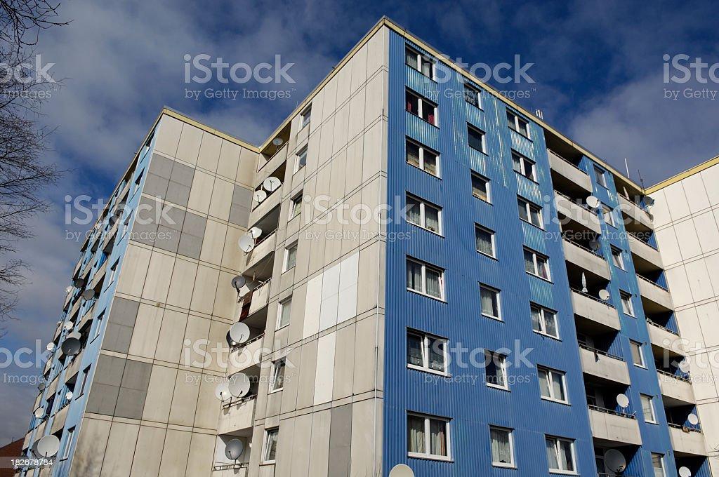 1970´s subsidized housing royalty-free stock photo