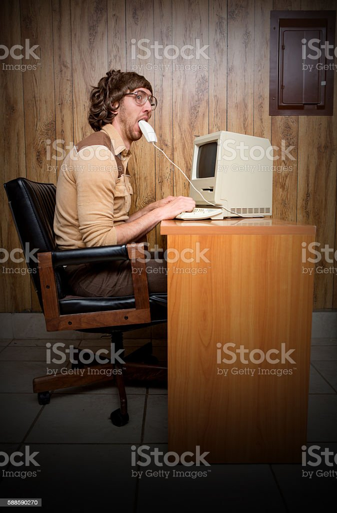 80's technology burn out stock photo