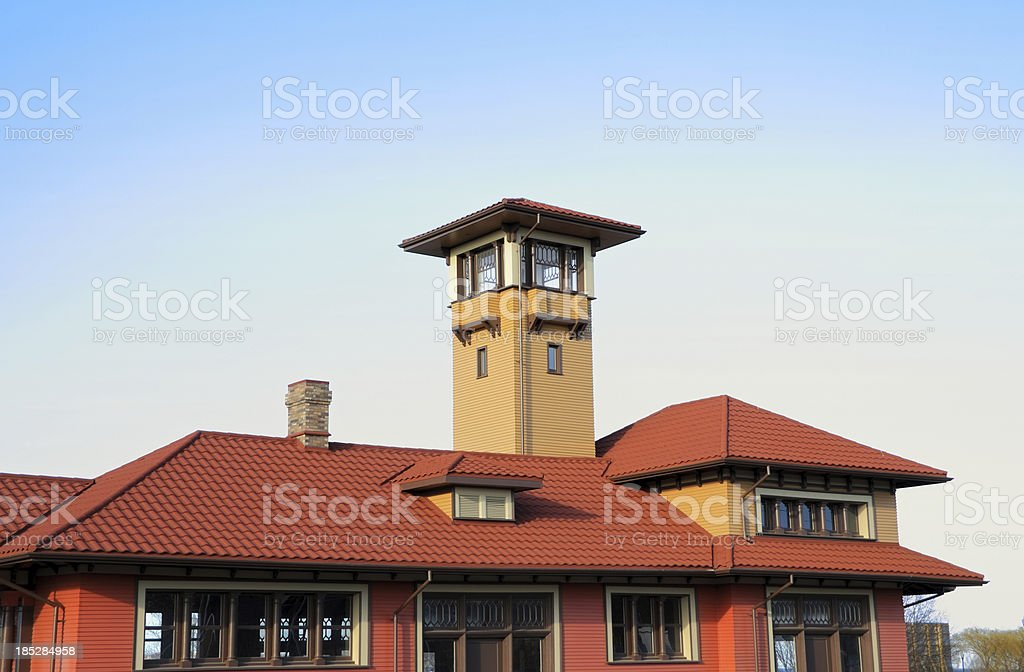 1900's train station in Allandale stock photo