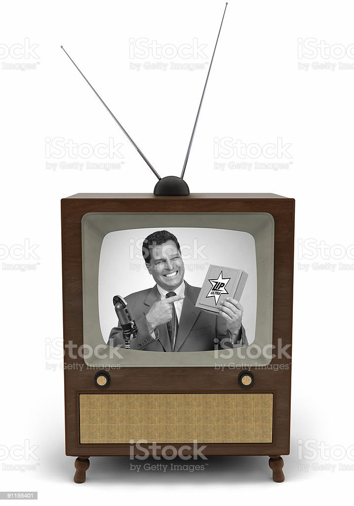 50's TV commercial stock photo