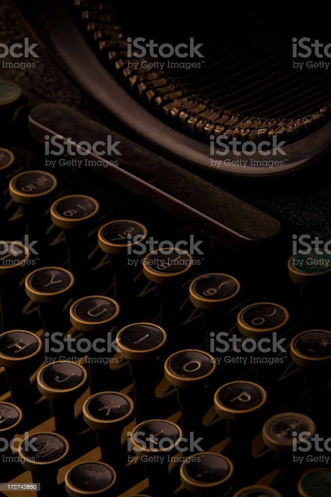 1930's Typewriter royalty-free stock photo