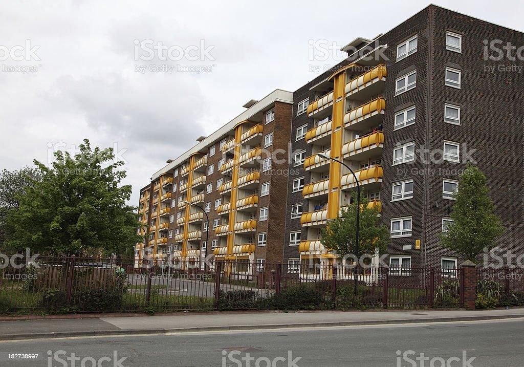 1960's uk apartments royalty-free stock photo