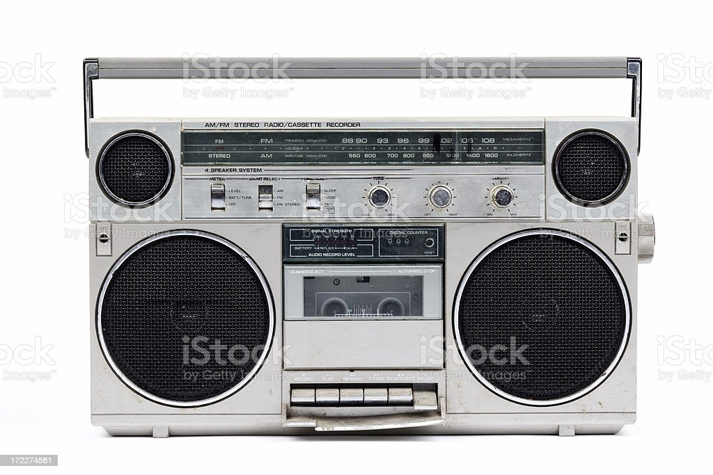80's vintage stereo (full front) XXL royalty-free stock photo