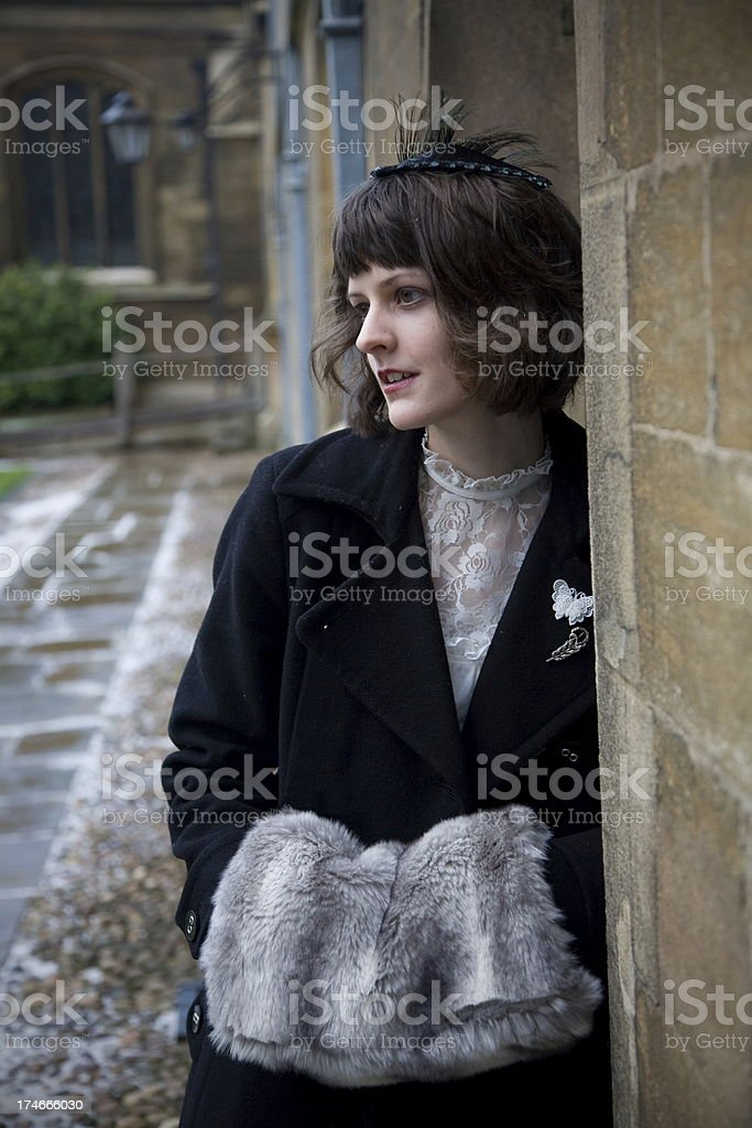 1930's  winter fashion royalty-free stock photo
