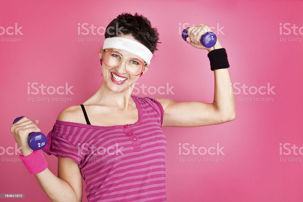 80's Woman Workout stock photo