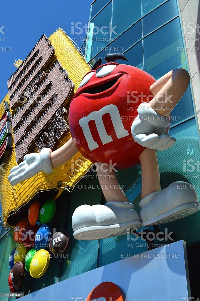 M&M's World In Las Vegas royalty-free stock photo