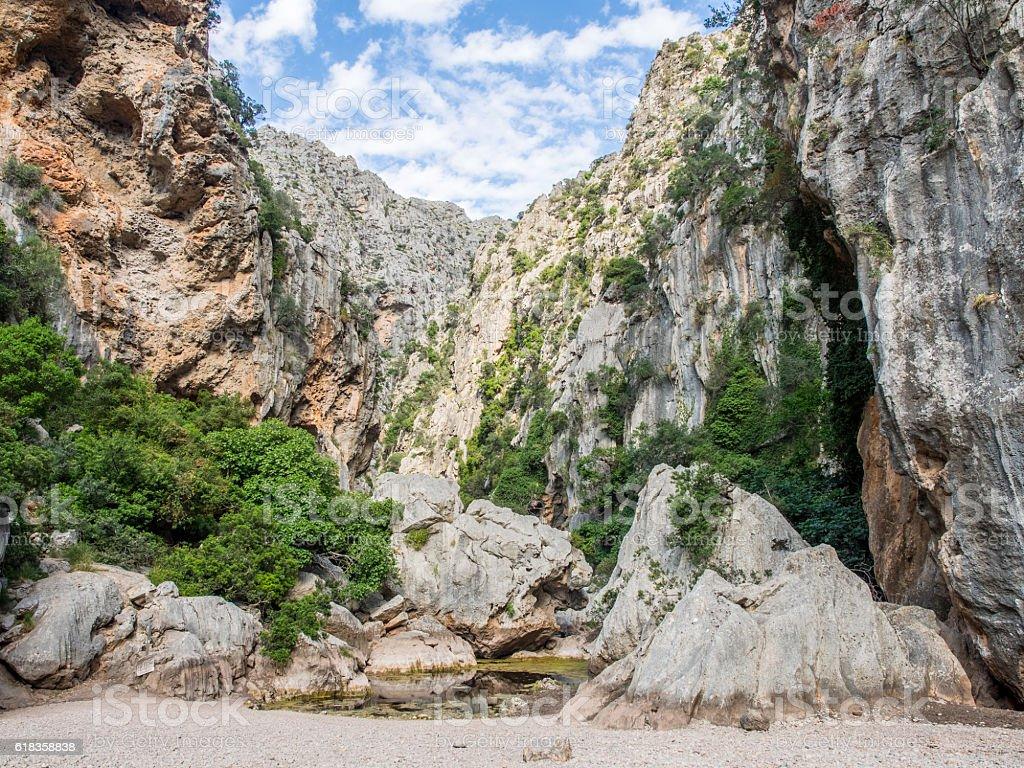 Sa Calobra - Mallorca (Balearic Islands - Spain) stock photo