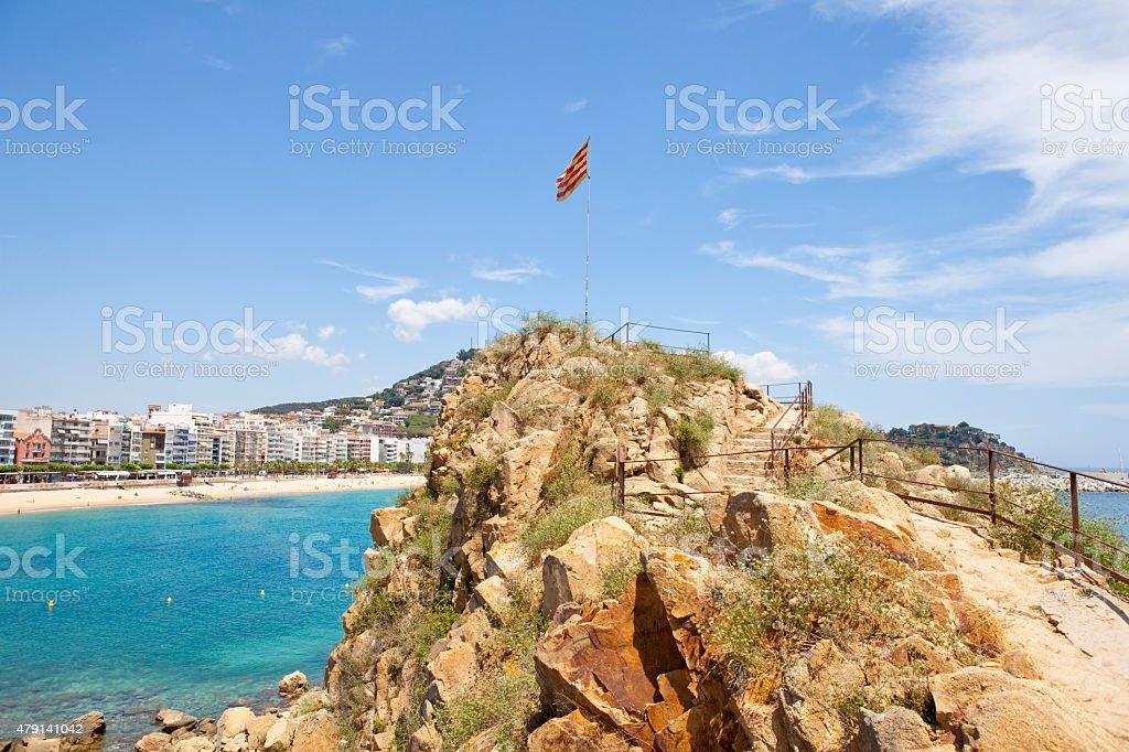 Sa Palomera rock stock photo