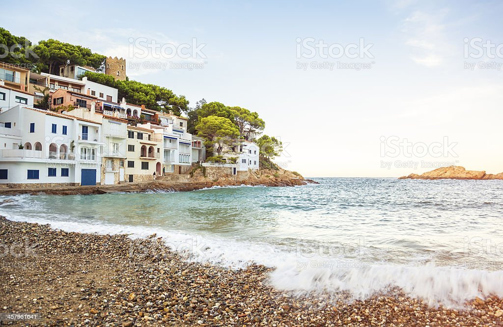 Sa Tuna, Costa Brava (Catalonia, Spain) stock photo