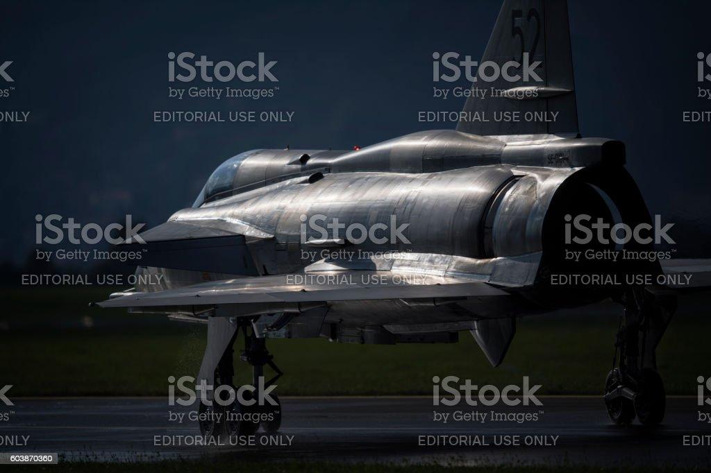 Saab 37 Viggen stock photo