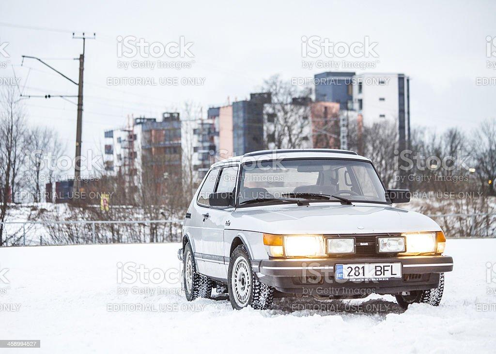 Saab 900 Turbo. stock photo