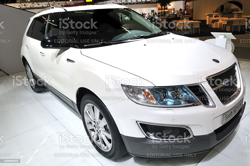 Saab 9-4X crossover SUV front view stock photo