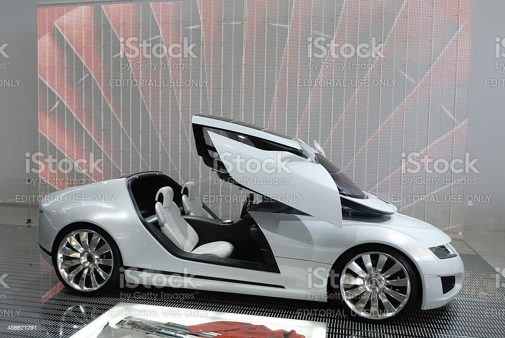 Saab Aero X conceptcar stock photo