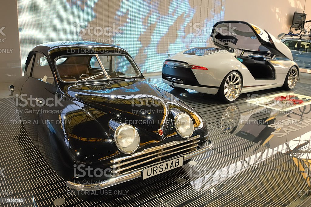 Saab concept cars old and new stock photo