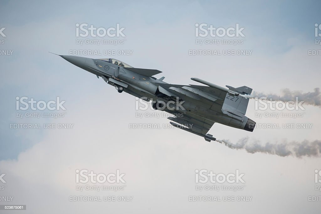 Saab JAS 39 Gripen aircraft stock photo