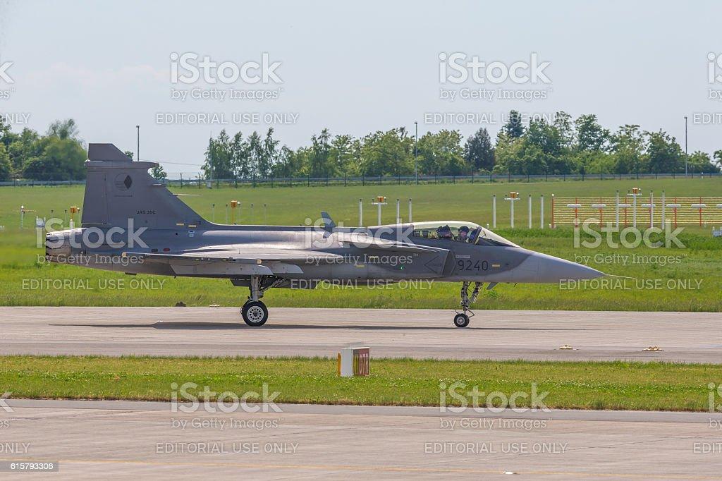Saab JAS 39 Gripen at ILA Berlin Air Show 2014 stock photo