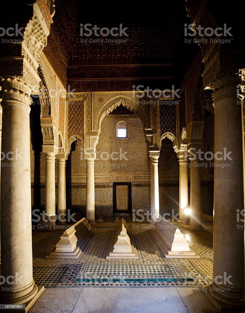 Saadiens Tombs. stock photo