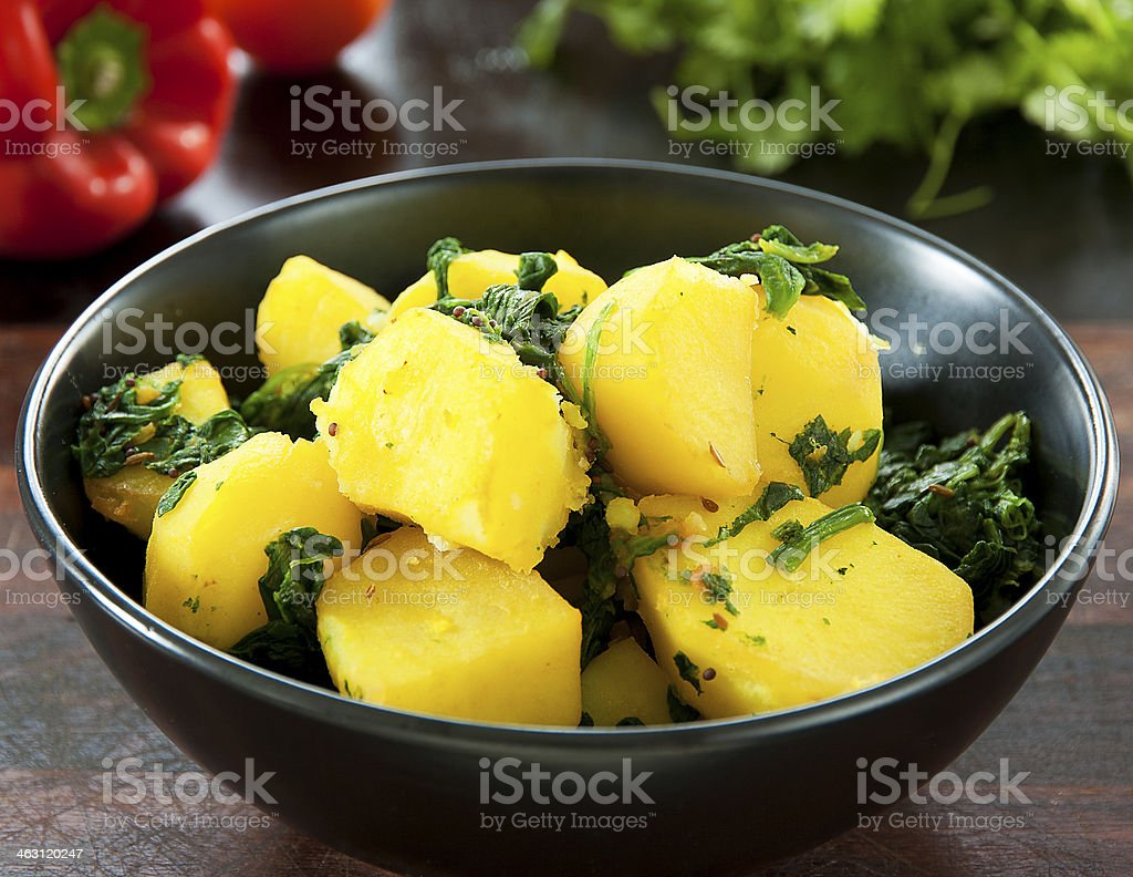 Saag Aloo stock photo