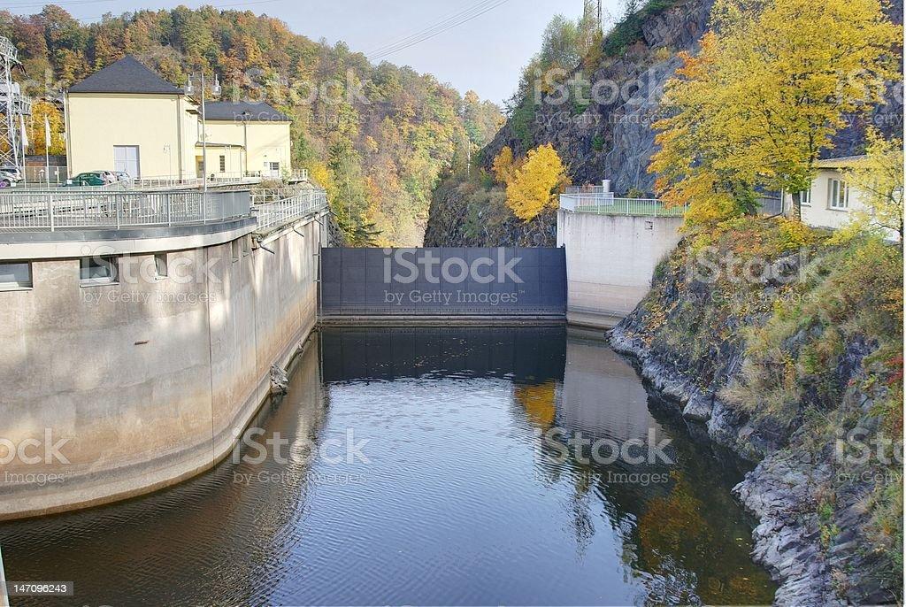 Saale Bleilochtalsperre stock photo